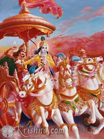 "Classic Krishna and Arjuna Photo Print, 11""x14"""