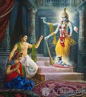 """Birth of Lord Krishna Photo Print, 8""""X10"""""""