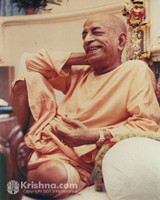 "Srila Prabhupada Photo, Relaxing in Vrindavana, 8""x10"""