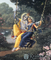 "Radha & Krishna the Divine Couple Photo Print, 8""X10"""