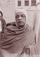 "Srila Prabhupada Sepia Photo, Wearing A Hat, 5""x7"""
