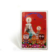 Jagannatha Puri, Red Background, Medium Acrylic