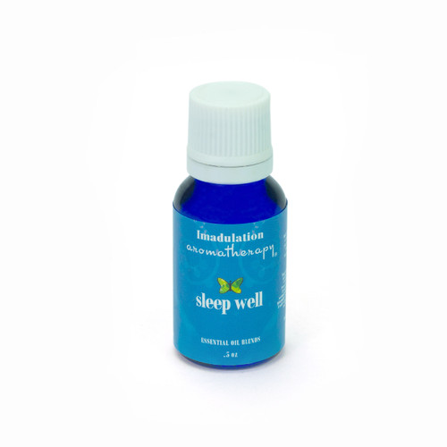 Sleep Well  is a pure essential oil blend to enhance relaxation and peace. Contains 100% pure ingredients: Lavender, Bergamot, and Angelica in a base of Grape Seed oil. Apply to pulse points or place a few drops on a cotton ball and place under your pillow.