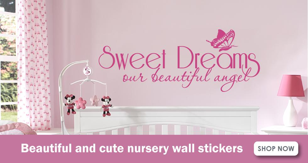 nursery wall stickers banner