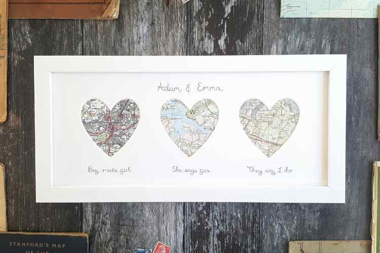 personalised framed maps