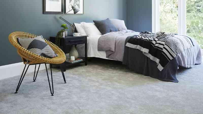 soft grey carpet in bedroom