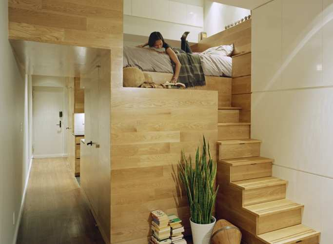 wooden room within a room structure