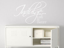 life is sweet vinyl wall quotes sticker white multiple sizes