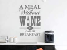 wine vinyl wall quote grey multiple sizes