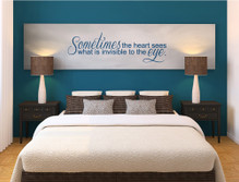 sometimes the heart sees wall art saying