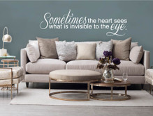 sometimes the heart sees wall sticker white