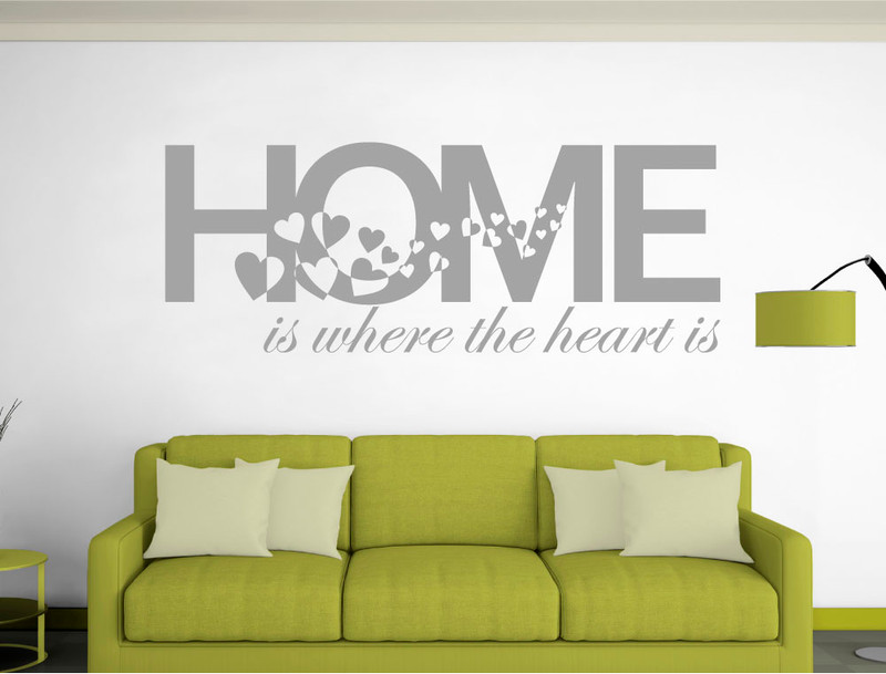 home is where the heart is wall sticker (buy 2 get 3rd free)