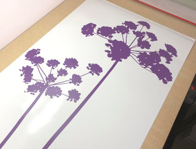 flower wall sticker purple