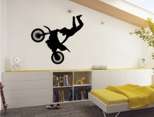 motorbike wall sticker black multiple sizes
