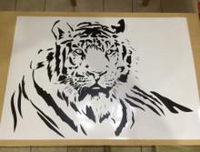 laying tiger black