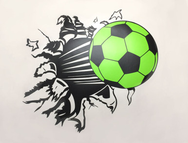 football wall sticker green
