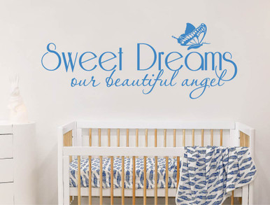 sweet dreams wall sticker blue multiple sizes
