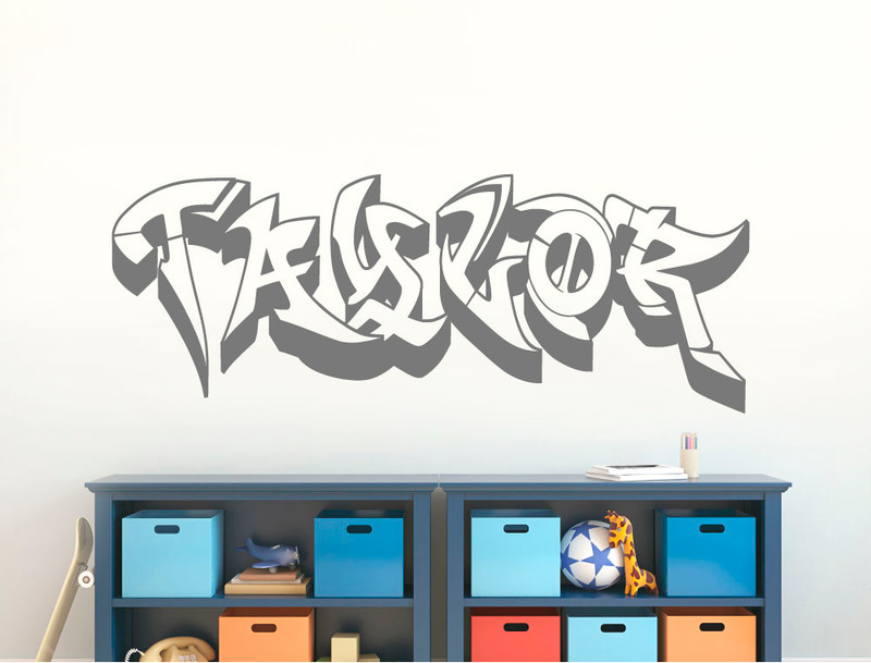 personalised graffiti wall sticker name (buy 2 get 3rd free)