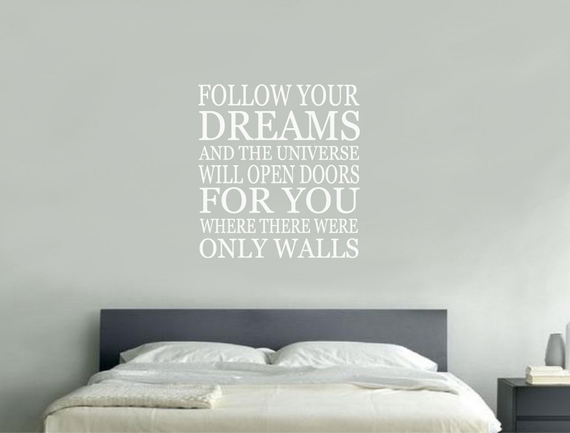 follow your dreams wall sticker | inspirational wall quotes