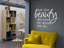 beauty quote wall sticker white multiple sizes