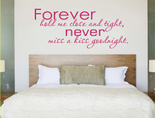 forever hold me close wall sticker multiple sizes