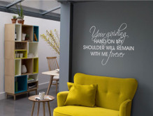 your guiding hand quote wall sticker silver multiple sizes