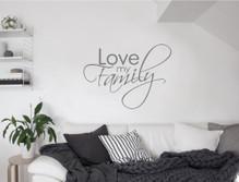 love my family wall sticker grey multiple sizes