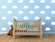cloud wall decals white multiple sizes