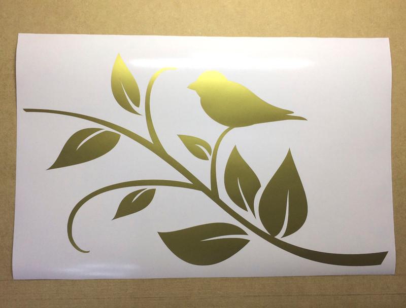 bird on a twig wall sticker