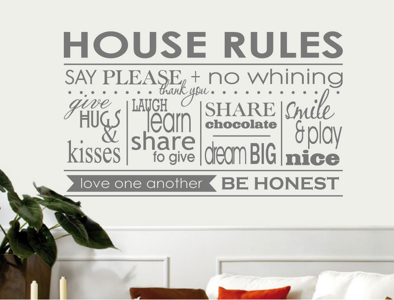 house rules vinyl wall sticker ( buy 2 get 1 free )