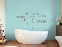 bathroom word art sticker multiple sizes
