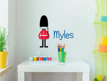 personalised british guard soldier wall sticker