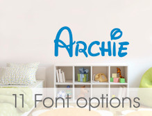 personalised name wall stickers archie multiple sizes
