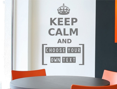 make your own keep calm wall sticker multiple sizes