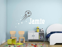 personalised football wall decal