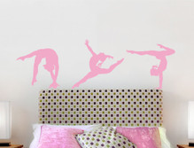 gymnastics wall stickers pink multiple sizes