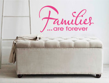 families are forever wall sticker pink multiple sizes