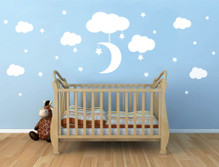 moon and stars wall decals