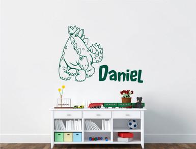 personalised kids dinosaur bedroom decor wall sticker