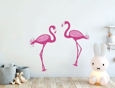 flamingo wall stickers multiple sizes