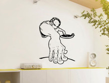 dj wall sticker