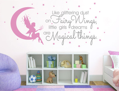 magical fairy bedroom sticker quote multiple sizes