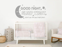 good night sleep tight wall sticker grey multiple sizes