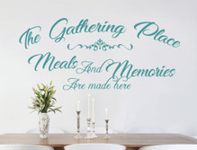 meals and memories kitchen wall decor saying