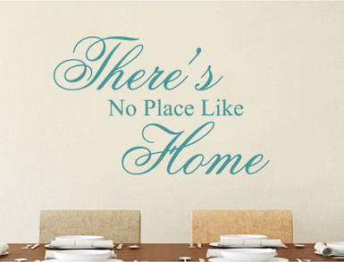 theres no place like home wall sticker aqua green multiple sizes