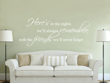 friends wall sticker quote white multiple sizes