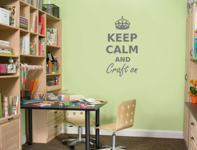 keep calm and craft on wall sticker multiple sizes