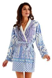 Blue Ceramic Short Robe