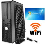 FAST Dell DESKTOP COMPUTER PC DUAL CORE 3.00GHZ 4GB 160GB Windows 7 PRO WIFI