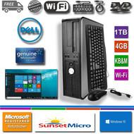 Dell Desktop Computer PC Core 2 Duo 3.0Ghz 4GB RAM 1TB DVDRW Windows 10